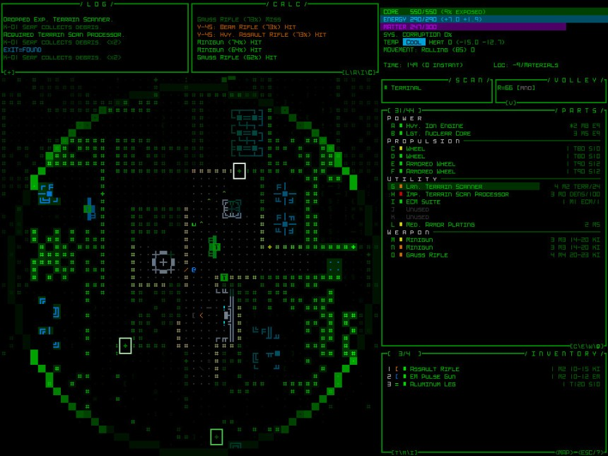 Review: Cogmind | Gold-Plated Games